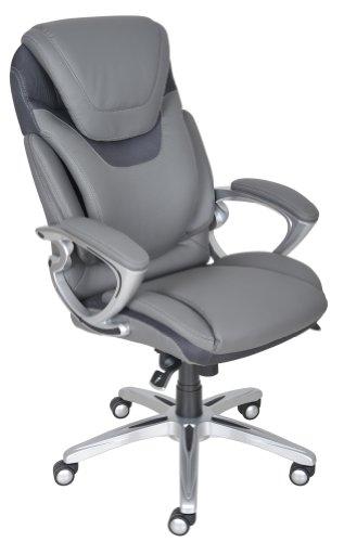 Serta 43807 Air Health and Wellness Executive Office Chair, Light Grey