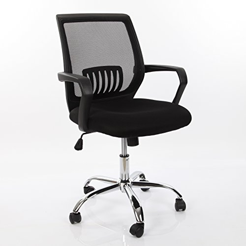 VECELO Ergonomically Adjustable Office Desk Chair , Mid Back Mesh Chair