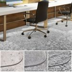 Office Chair Mat for Carpeted Floors | Desk Chair Mat for Carpet | Clear PVC mat in different thicknesses and sizes for every pile type | High-Pile 36″x48″