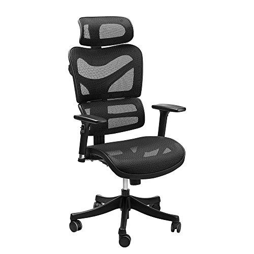 Ergonomic Mesh Office Chair Sieges Adjustable Headrest 3d Flip Up