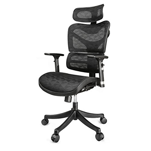 Ergonomic Mesh Office Chair – Adjustable Headrest, 3D Flip ...